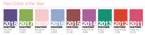 Pantone Past Colors of the Year 2011 to 2018