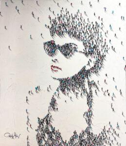 Craig Alan's Populus Series figurative artwork of Audrey Hepburn