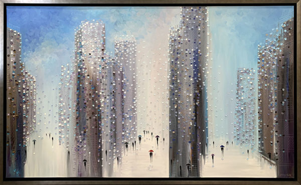 Rainy Midtown by Ekaterina Ermilkina at Art Leaders Gallery - Michigan's Finest Art Gallery