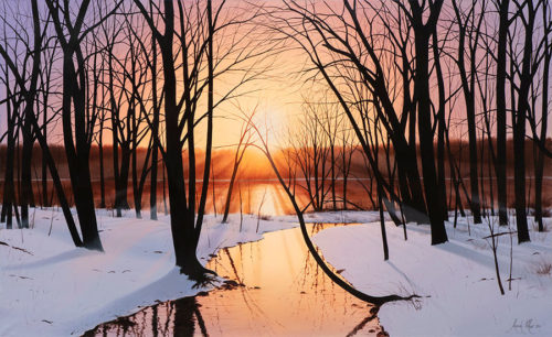 Winter Tranquility by Alexander Volkov - Art Leaders Gallery - Michigan