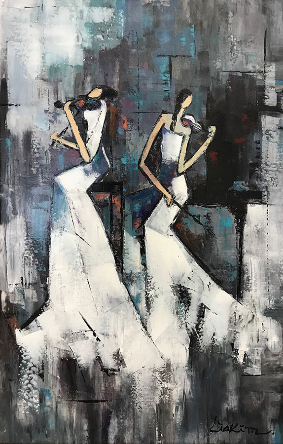 "Duet II by Lia Kim atArt Leaders Gallery, voted ""Michigan's Best Fine Art Gallery"" is located in the heart of West Bloomfield. This full service fine art gallery is the destination for all your art and custom picture framing needs. Our extensive inventory of art includes styles ranging from contemporary to traditional. The gallery represents international, national and emerging new talent as well as local Michigan artists."