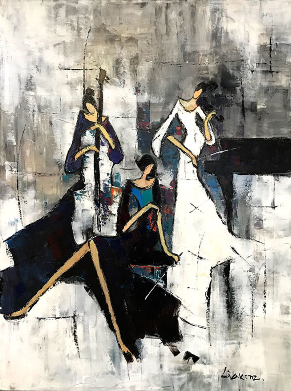 """Ensemble by Lia Kim at Art Leaders Gallery, voted """"Michigan's Best Fine Art Gallery"""" is located in the heart of West Bloomfield. This full service fine art gallery is the destination for all your art and custom picture framing needs. Our extensive inventory of art includes styles ranging from contemporary to traditional. The gallery represents international, national and emerging new talent as well as local Michigan artists."""