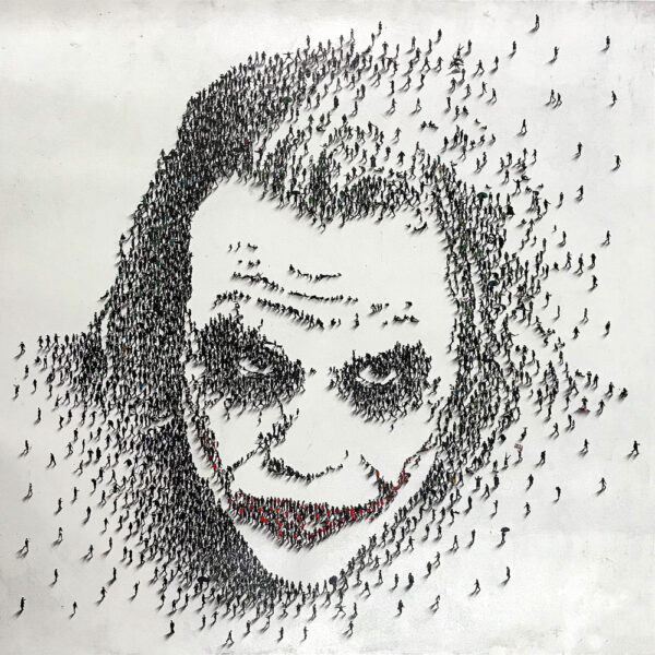 Why So Serious? by Craig Alan at Art Leaders Gallery. Populus series homage to Heath Ledger's Joker in the Dark Night