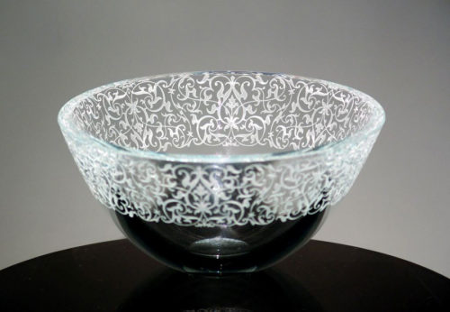 "7"" Florentine Lace Bowl by Stephen Schlanser at Art Leaders Gallery, voted ""Michigan's Best Fine Art Gallery"" is located in the heart of West Bloomfield. This full service fine art gallery is the destination for all your art and custom picture framing needs. Our extensive inventory of art includes styles ranging from contemporary to traditional. The gallery represents international, national, and emerging new talent as well as local Michigan artists."