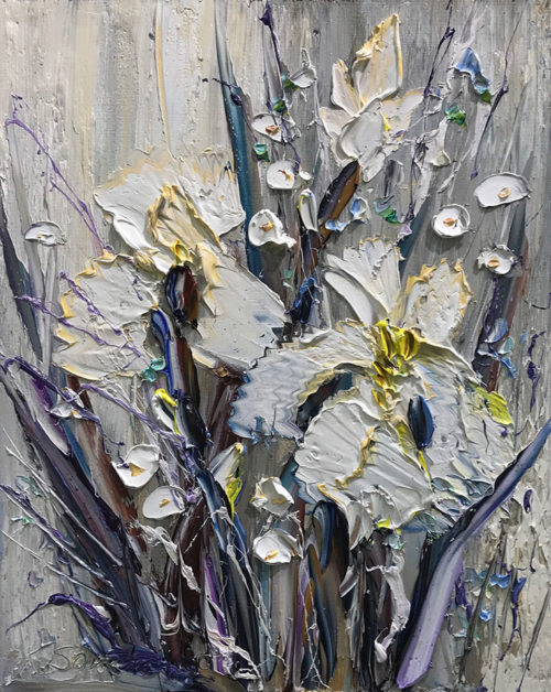 """Charming Iris III"" by Konstantin Savchenko at Art Leaders Gallery, voted ""Michigan's Best Fine Art Gallery"" is located in the heart of West Bloomfield. This full service fine art gallery is the destination for all your art and custom picture framing needs. Our extensive inventory of art includes styles ranging from contemporary to traditional. The gallery represents international, national, and emerging new talent as well as local Michigan artists."