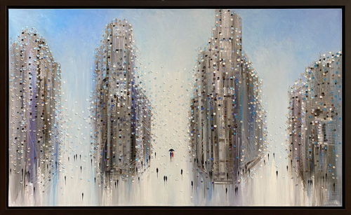 """""""City Mood III"""" by Ekaterina Ermilkina at Art Leaders Gallery, voted """"Michigan's Best Fine Art Gallery"""" is located in the heart of West Bloomfield. This full service fine art gallery is the destination for all your art and custom picture framing needs. Our extensive inventory of art includes styles ranging from contemporary to traditional. The gallery represents international, national and emerging new talent as well as local Michigan artists."""