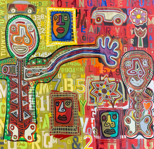 """Kinesiology"" by Rodney Denne (RED) at Art Leaders Gallery, voted ""Michigan's Best Fine Art Gallery"" is located in the heart of West Bloomfield. This full service fine art gallery is the destination for all your art and custom picture framing needs. Our extensive inventory of art includes styles ranging from contemporary to traditional. The gallery represents international, national, and emerging new talent as well as local Michigan artists."