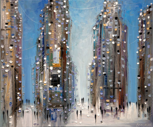 Textured Oil Painting Skyline
