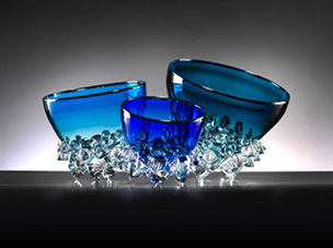 "Aqua Thorn Bowl by Andrew Madvin at Art Leaders Gallery, voted ""Michigan's Best Fine Art Gallery"" is located in the heart of West Bloomfield. This full service fine art gallery is the destination for all your art and custom picture framing needs. Our extensive inventory of art includes styles ranging from contemporary to traditional. The gallery represents international, national, and emerging new talent as well as local Michigan artists."