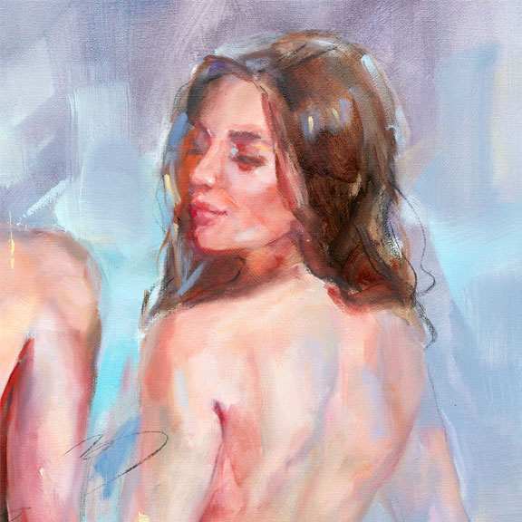 """""""Confidante II"""" by Anna Razumovskaya at Art Leaders Gallery, voted """"Michigan's Best Fine Art Gallery"""" is located in the heart of West Bloomfield. This full service fine art gallery is the destination for all your art and custom picture framing needs. Our extensive inventory of art includes styles ranging from contemporary to traditional. The gallery represents international, national and emerging new talent as well as local Michigan artists."""