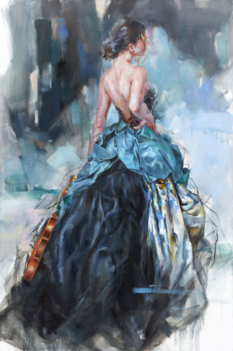 """Evocative"" by Anna Razumovskaya at Art Leaders Gallery, voted ""Michigan's Best Fine Art Gallery"" is located in the heart of West Bloomfield. This full service fine art gallery is the destination for all your art and custom picture framing needs. Our extensive inventory of art includes styles ranging from contemporary to traditional. The gallery represents international, national and emerging new talent as well as local Michigan artists."