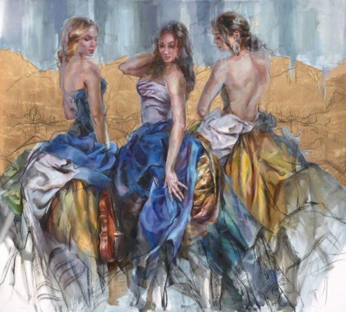 """Golden Kingdom"" by Anna Razumovskaya at Art Leaders Gallery, voted ""Michigan's Best Fine Art Gallery"" is located in the heart of West Bloomfield. This full service fine art gallery is the destination for all your art and custom picture framing needs. Our extensive inventory of art includes styles ranging from contemporary to traditional. The gallery represents international, national and emerging new talent as well as local Michigan artists."