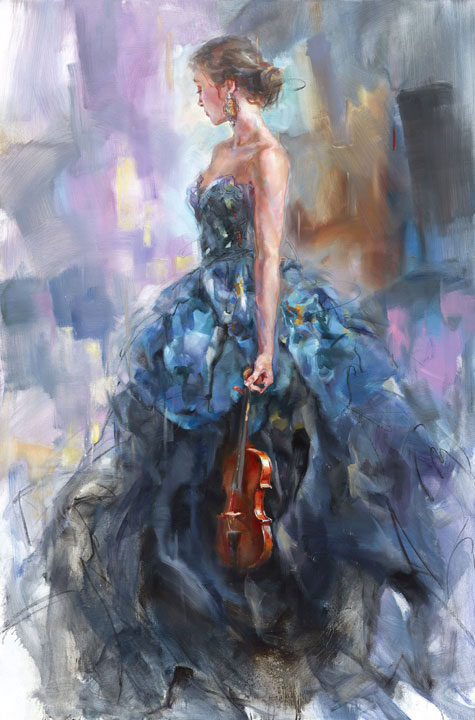 """Solo II"" by Anna Razumovskaya at Art Leaders Gallery, voted ""Michigan's Best Fine Art Gallery"" is located in the heart of West Bloomfield. This full service fine art gallery is the destination for all your art and custom picture framing needs. Our extensive inventory of art includes styles ranging from contemporary to traditional. The gallery represents international, national and emerging new talent as well as local Michigan artists."