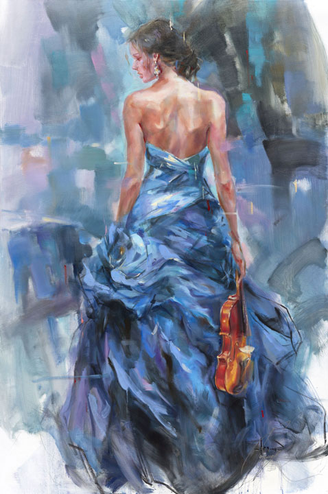 "Variation II by Anna Razumovskaya at Art Leaders Gallery, voted ""Michigan's Best Fine Art Gallery"" is located in the heart of West Bloomfield. This full service fine art gallery is the destination for all your art and custom picture framing needs. Our extensive inventory of art includes styles ranging from contemporary to traditional. The gallery represents international, national and emerging new talent as well as local Michigan artists."