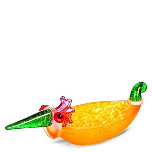 Orange bird bowl
