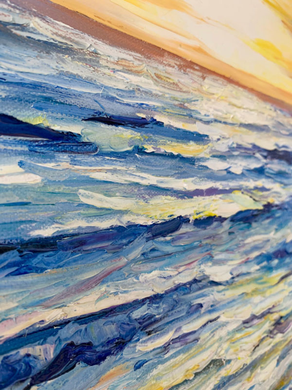 """""""New Horizons"""" by Andrii Afanasiev detail of thick oil paint application"""