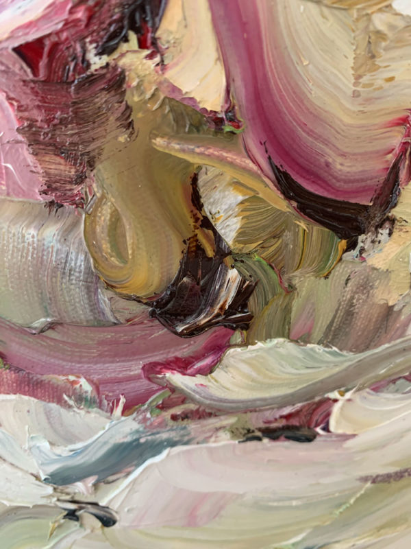 """""""Romance"""" by Andrii Afanasiev detail of thick oil paint application"""