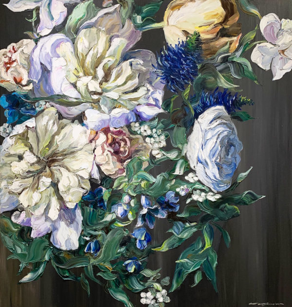 Oil Painting of Flower Bouquet