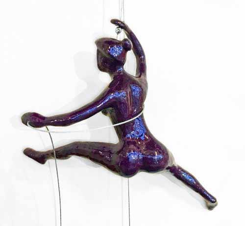 Purple Wall Climber Sculpture