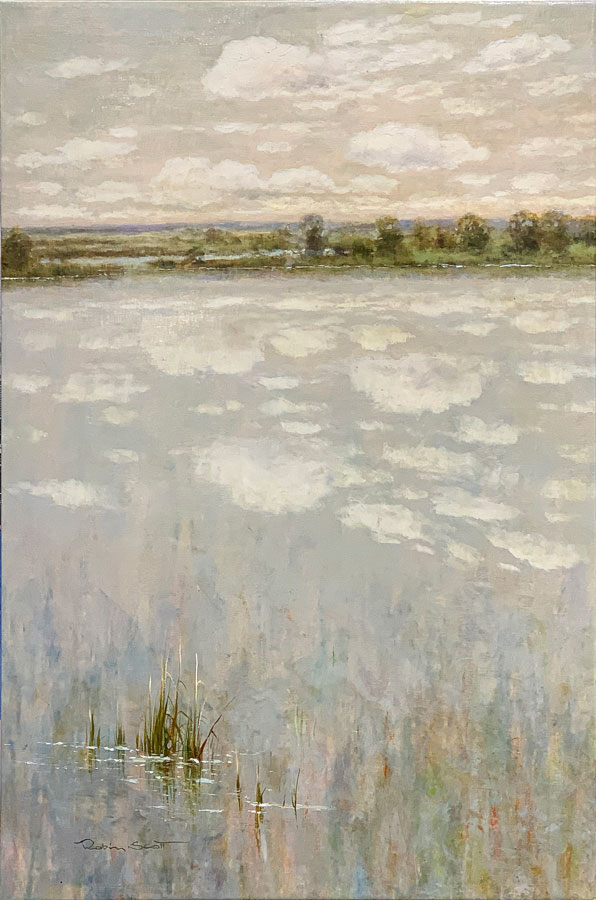 """""""A Peaceful Day III"""" by R. Scott at Art Leaders Gallery, voted """"Michigan's Best Fine Art Gallery"""" is located in the heart of West Bloomfield. This full service fine art gallery is the destination for all your art and custom picture framing needs. Our extensive inventory of art includes styles ranging from contemporary to traditional. The gallery represents international, national, and emerging new talent as well as local Michigan artists."""