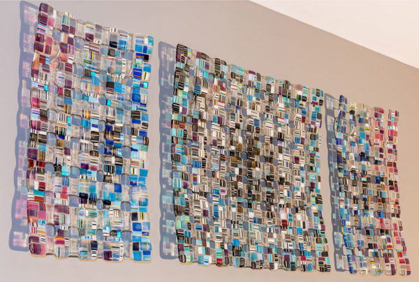 """""""Retro Mesh Commission"""" Series 2 - Rainbow   Art Leaders Gallery, voted """"Michigan's Best Fine Art Gallery"""" is located in the heart of West Bloomfield. This full service fine art gallery is the destination for all your art and custom picture framing needs. Our extensive inventory of art includes styles ranging from contemporary to traditional. The gallery represents international, national, and emerging new talent as well as local Michigan artists."""