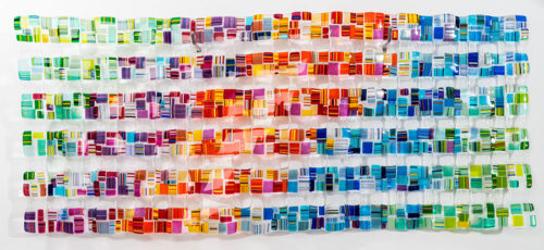 """Retro Mesh Commission"" Series 2 - Rainbow 