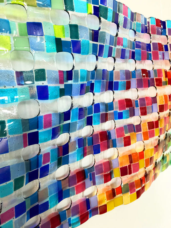Colorful Glass Wall Sculpture