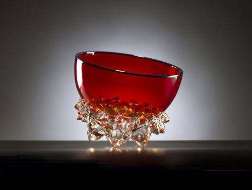 "Cherry Red Thorn Bowl by Andrew Madvin at Art Leaders Gallery, voted ""Michigan's Best Fine Art Gallery"" is located in the heart of West Bloomfield. This full service fine art gallery is the destination for all your art and custom picture framing needs. Our extensive inventory of art includes styles ranging from contemporary to traditional. The gallery represents international, national, and emerging new talent as well as local Michigan artists."