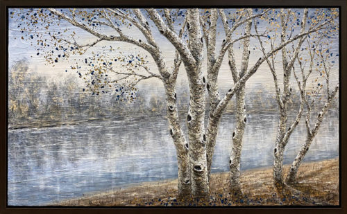 "Birches on Long Lake by Gerd Schmidt atArt Leaders Gallery, voted ""Michigan's Best Fine Art Gallery"" is located in the heart of West Bloomfield. This full service fine art gallery is the destination for all your art and custom picture framing needs. Our extensive inventory of art includes styles ranging from contemporary to traditional. The gallery represents international, national and emerging new talent as well as local Michigan artists."
