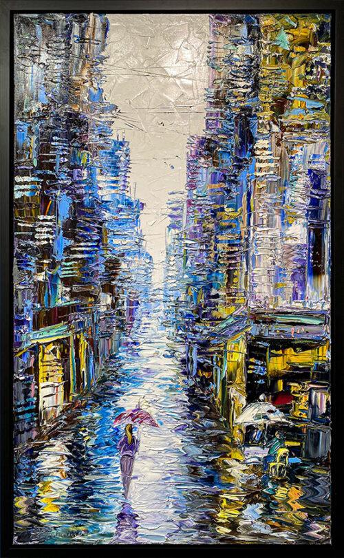 Oil Painting of City Scene