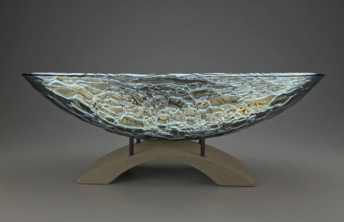Glass Bowl on Pedestal