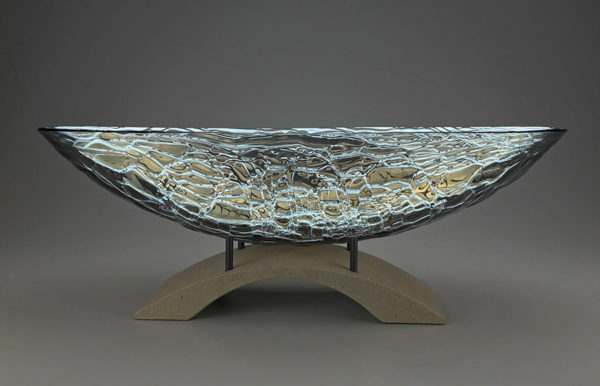 Glass Bowl on Pedestal
