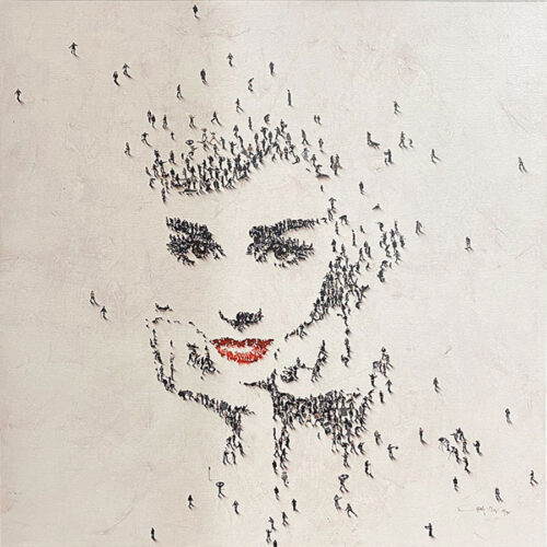 Pop Culture Icon Audrey hepburn painting