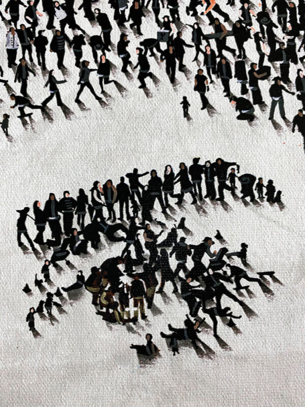 """Quiet Gaze"" by Craig Alan at Art Leaders Gallery. Populus version of starlet Audrey Hepbern"