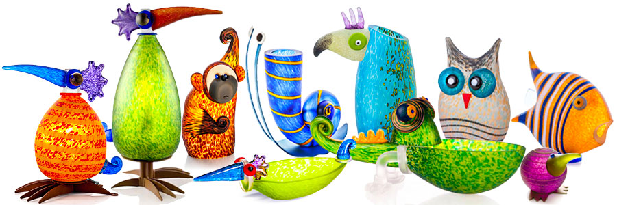Colorful Glass Animals