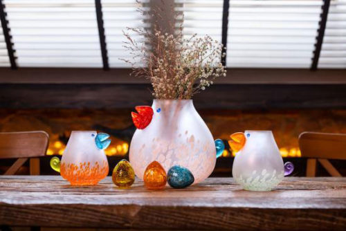 """Chicka"" and ""Chicko"" Glass Vases by Borowski Glass Studio at Art Leaders Gallery"