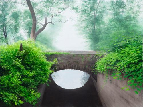 Enigma by Alexander Volkov; summer forest bridge