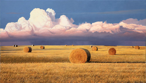 Harvest Thunder by Alexander Volkov; wheatfeild with storm cloud in background