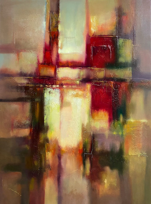 Abstract Textured Oil Painting