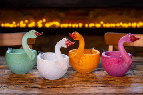 """Tender"" Glass Bowl by Borowski Glass Studio at Art Leaders Gallery"