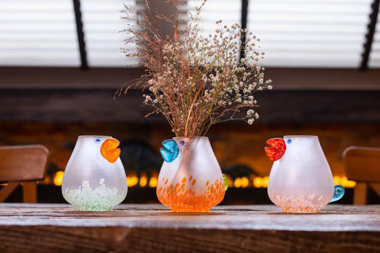 """""""Chicko"""" Glass Vase by Borowski Glass Studio at Art Leaders Gallery"""