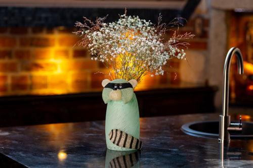"""Bandito Big"" Glass Vase by Borowski Glass Studio at Art Leaders Gallery"