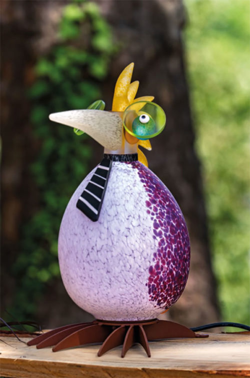 Glass Bird Lamp as Andy Warhol
