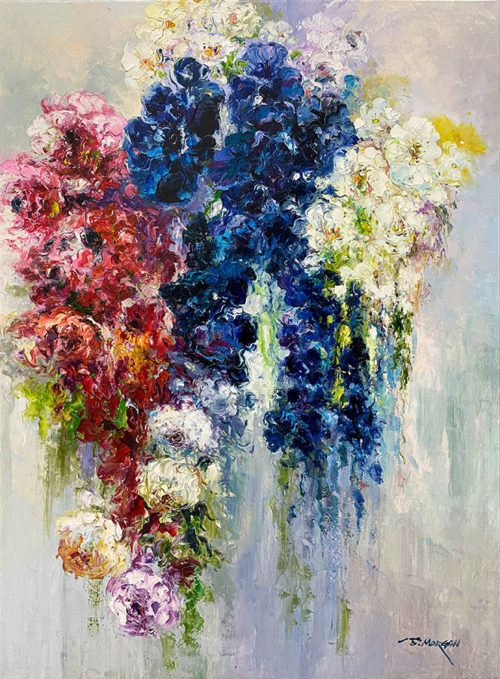 Impressionistic bouquet of flowers