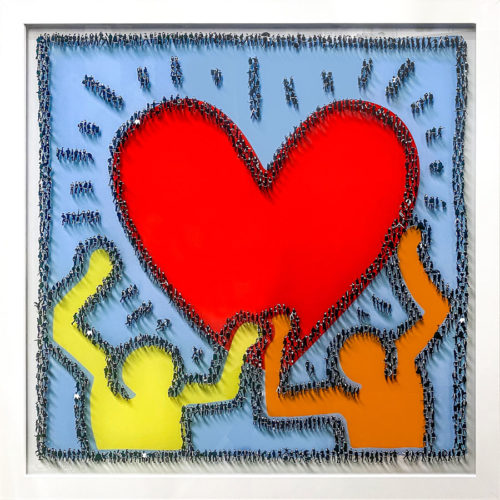 Creature Condition Limited Edition by Craig Alan. Populus homage to Keith Haring printed on clear acrylic.