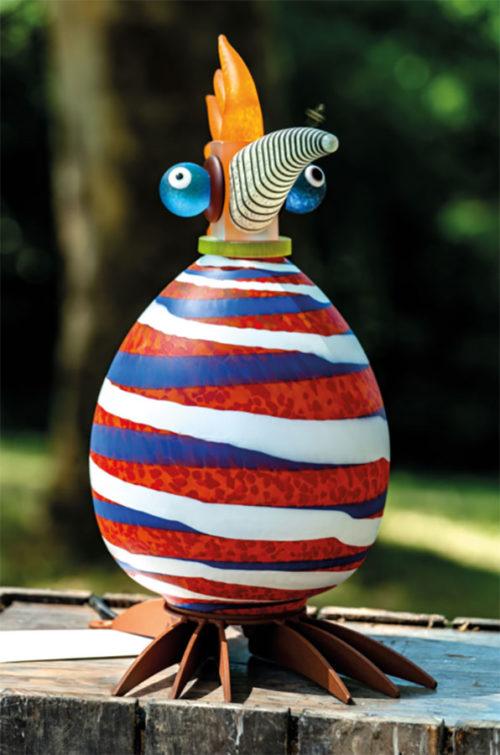 Glass Bird Lamp as David Bowie