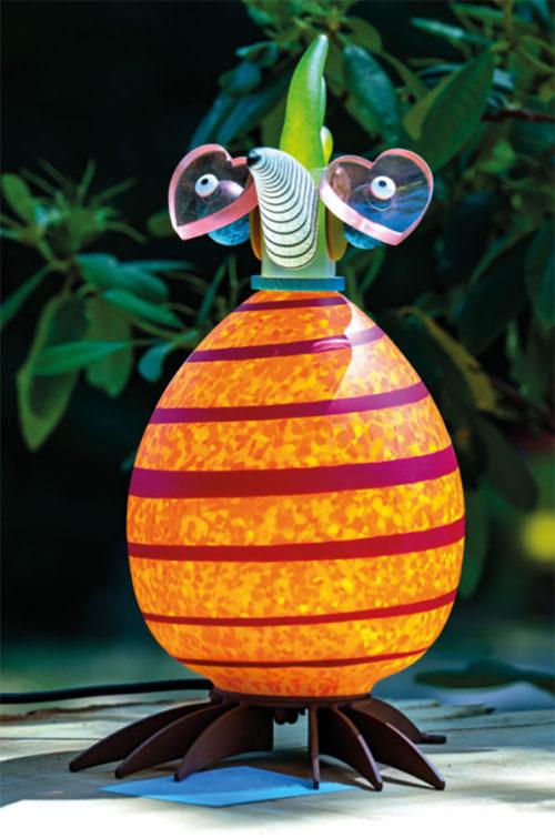 Glass Bird Lamp as Elton John