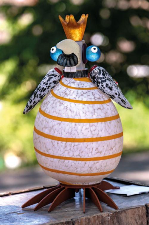 Glass Bird Lamp as Freddy Mercury