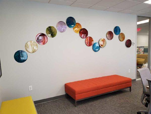 Metal Circle Wall Sculptures
