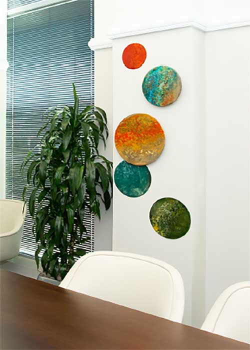 Metal Circle Wall Sculptures